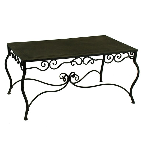 Primary 41-inch Wide Black Metal Coffee Table