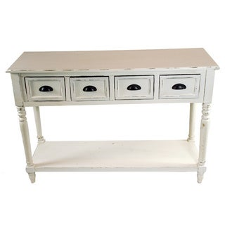 47-inch Wide White Wood Console Table