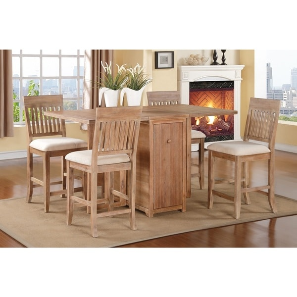Wood Ranch Bar Stools (Set of 4)