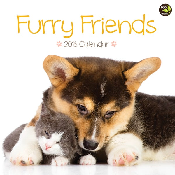 2016 Furry Friends Wall Calendar