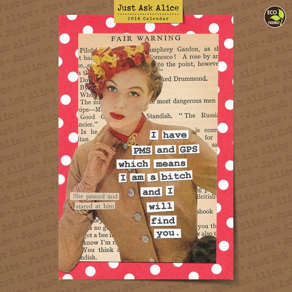 2016 Just Ask Alice Wall Calendar