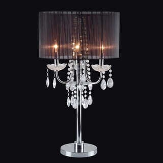 Journee Home 'Twilight' 29.5 inch Drop Crystal Table Lamp