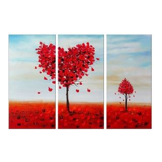 Design Art 'Falling in Love' Oil Painting 36 x32 - 3 Piece