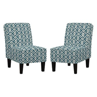 angelo:HOME Jules Cooper Station Ocean Blue Armless Chairs (Set of 2)