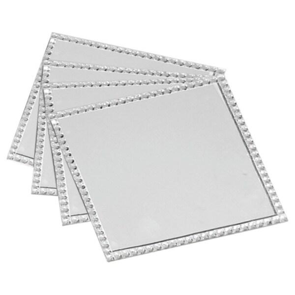 Allure Diamond Square Coasters (Set of 4)