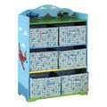 Adorable kid's Transportation storage with non-woven fabric case cabinet