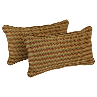 Blazing Needles Corded Autumn Gingham Jacquard Chenille Rectangular Throw Pillows (Set of 2)