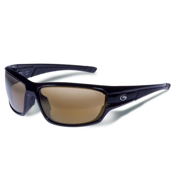 Gargoyles Havoc Black with Brown Polarized and Bronze Mirror Eyewear