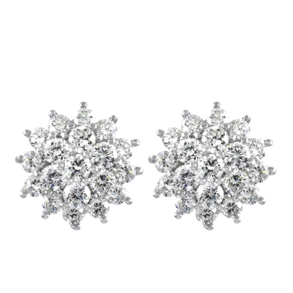 Cluster CZ Stud Earrings