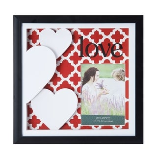 Melannco Red Love Color Paper Art Shadow Box Picture Frame