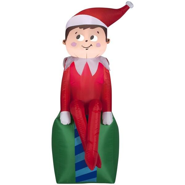 Elf on Present Indoor/ Outdoor Inflatable 16078999
