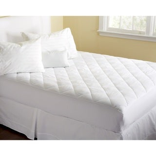 Home Fashion Designs Cassidy Collection Premium Comfort Hypoallergenic Fitted Mattress Pad - White