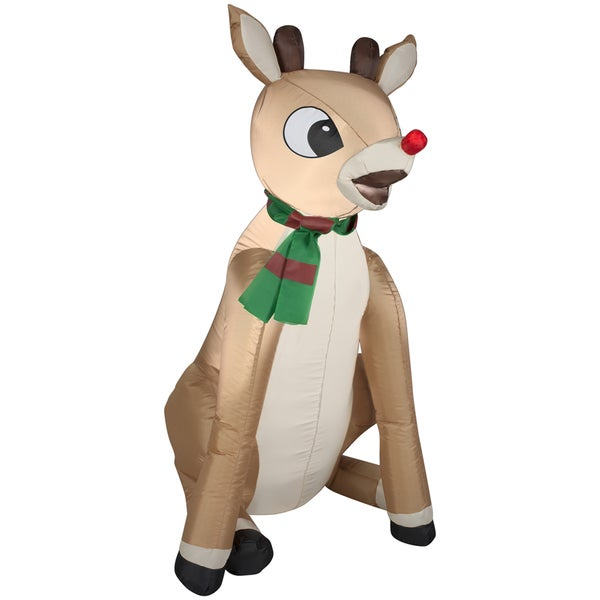 Rudolph Red Nose with Scarf Indoor/ Outdoor Inflatable