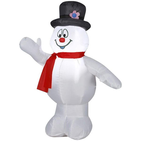 Frosty with Top Hat and Red Scarf Indoor/ Outdoor Inflatable
