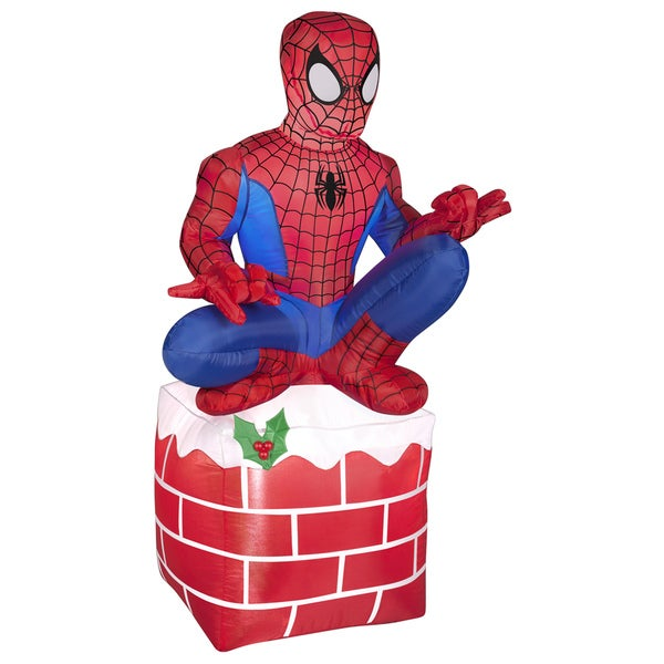 Holiday Spider Man on Chimney Indoor/ Outdoor Inflatable 16079021