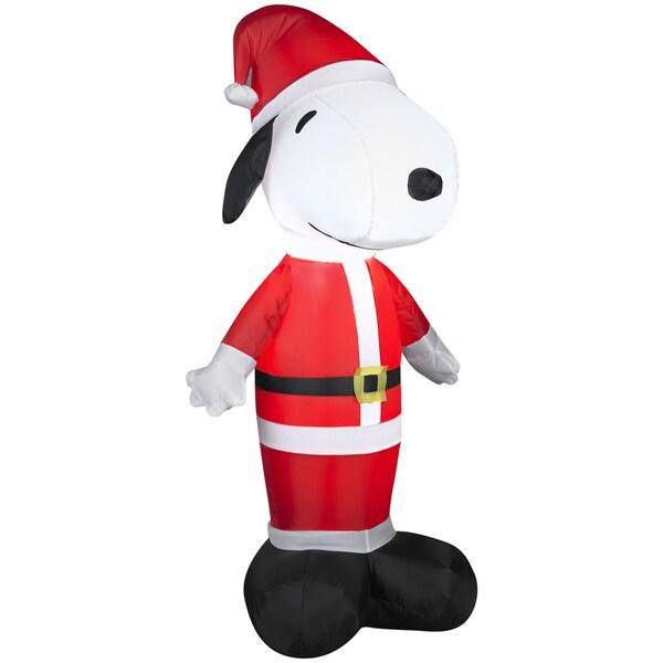 Santa Snoopy Indoor/ Outdoor Inflatable
