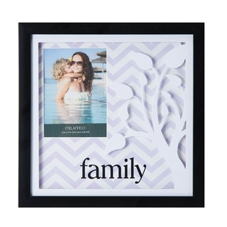 Melannco Lilac Family Color Paper Art Shadow Box Picture Frame