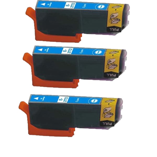 Epson T2772 Cyan Compatible Inkjet Cartridge for Epson XP-850 XP-950 (Pack of 3)