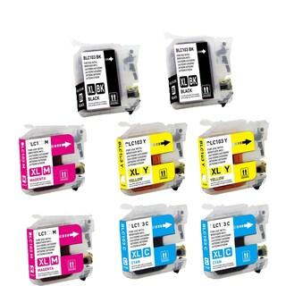 Brother LC103 BK XL LC103 C XL LC103 M XL LC103 Y XL Compatible Inkjet Cartridge (Pack of 8)