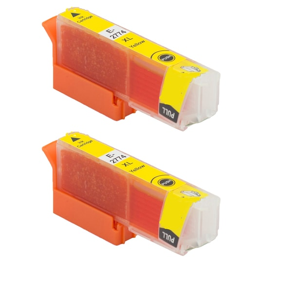 Epson T2774 Yellow Compatible Inkjet Cartridge for Epson XP-850 XP-950 (Pack of 2)