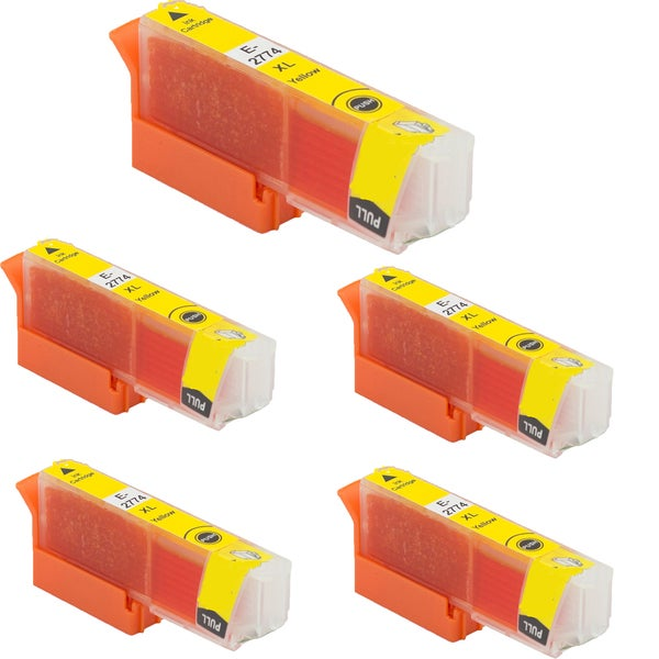 Epson T2774 Yellow Compatible Inkjet Cartridge for Epson XP-850 XP-950 (Pack of 5)