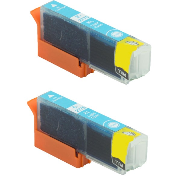 Epson T2775 Light Cyan Compatible Inkjet Cartridge for Epson XP-850 XP-950 (Pack of 2)