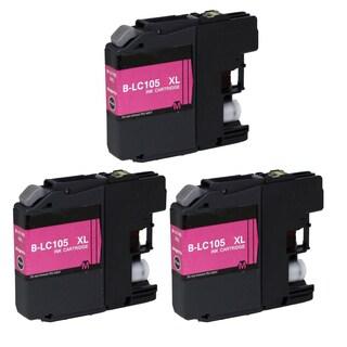 Brother LC105 M XL Compatible Inkjet Cartridge for MFCAN-J4410 J4110 J4510 J4610 J4710 J2510 (Pack of 3)