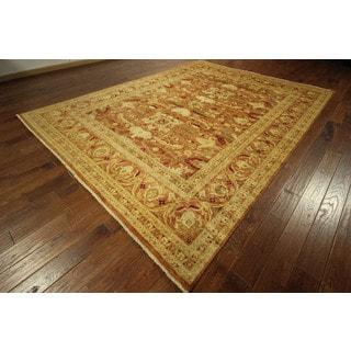 Oushak Style Hand-knotted Burnt Orange Chobi Quality Wool Area Rug (9' x 12')
