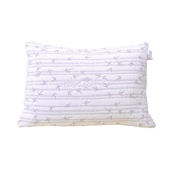Shredded Memory Foam Pillow with Rayon from Bamboo Cover (1 or 2-pack)