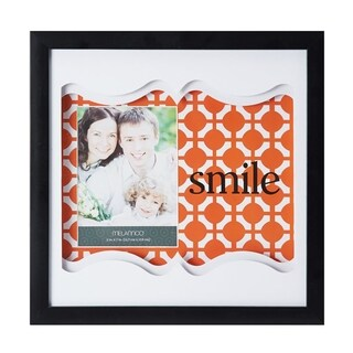 Melannco Coral Smile Color Paper Art Shadow Box Picture Frame
