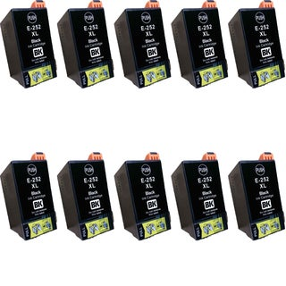 Epson T252XL BK Compatible Inkjet Cartridge for 3620 3640 7110 7610 7620 (Pack of 10)