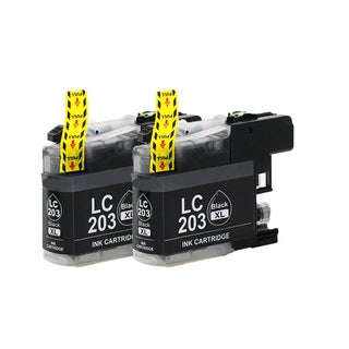 Brother LC203 BK XL Compatible Inkjet Cartridge for MFC-J4625DW MFC-J5320DW MFC-J5620DW MFC-J5625DW MFC-J5720DW (Pack of 2)