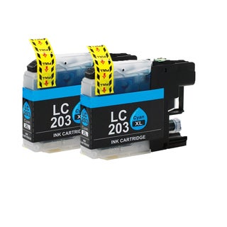 Brother LC203 C XL Compatible Inkjet Cartridge for MFC-J4625DW MFC-J5320DW MFC-J5620DW MFC-J5625DW MFC-J5720DW (Pack of 2)