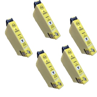 Epson T252XL Yellow Compatible Inkjet Cartridge for 3620 3640 7110 7610 7620 (Pack of 5)