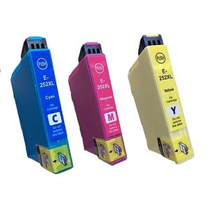 Epson T252XL Cyan Magenta Yellow Compatible Inkjet Cartridge for 3620 3640 7110 7610 7620 (Pack of 3)