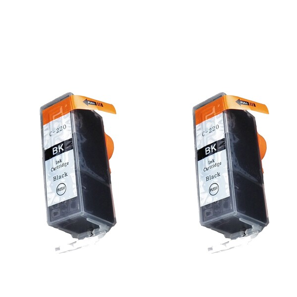 Canon CAN-220BK Black Compatible Inkjet Cartridge for Canon S400 S450 (Pack of 2)
