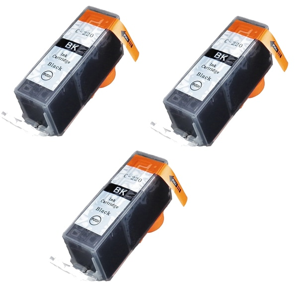 Canon CAN-220BK Black Compatible Inkjet Cartridge for Canon S400 S450 (Pack of 3)