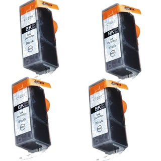 Canon CAN-220BK Black Compatible Inkjet Cartridge for Canon S400 S450 (Pack of 4)