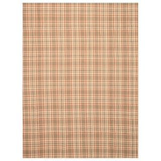 EORC T130BN Multi-colored Handmade Wool Plaid Rug (8' x 10')