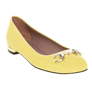 Gucci Jolene Patent Leather Flats Yellow