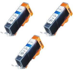 Canon CAN-221C Cyan Compatible Inkjet Cartridge for Canon S400 S450 (Pack of 3)