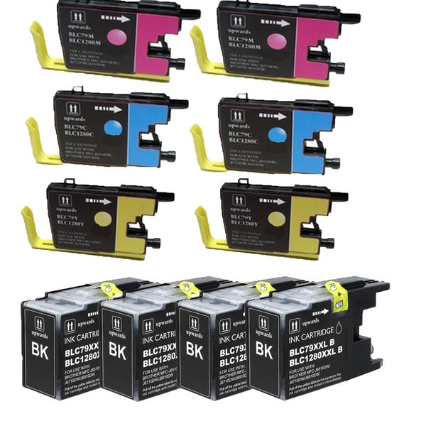 Brother LC79 (B C Y M) Compatible Inkjet Cartridge for MFCAN-J6510DW MFCAN-J6710DW MFCAN-J6910DW (Pack of 10)