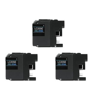 Brother LC205 C XXL Compatible Inkjet Cartridge for MFC-J4625DW MFC-J5320DW MFC-J5620DW MFC-J5625DW MFC-J5720DW (Pack of 3)
