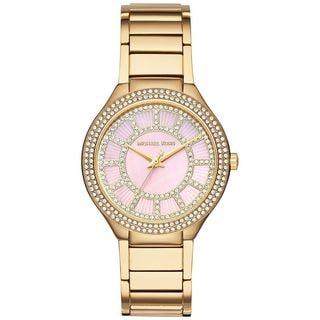 Michael Kors Women's MK3396 'Kerry' Crystal Gold-Tone Stainless Steel Watch