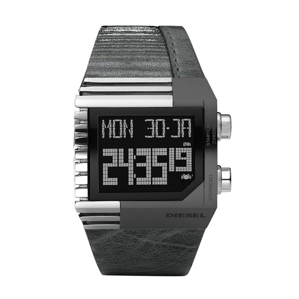 Diesel Unisex DZ7180 Black Leather Watch