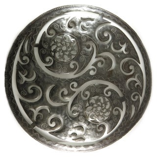 Handcrafted Recycled Steel Drum Large Yin Yang Metal Wall Art (Haiti)