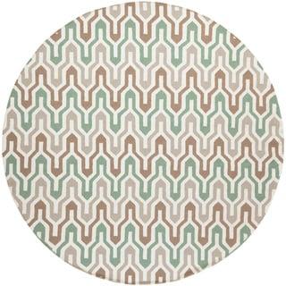 Jill Rosenwald:Hand-Woven Dennis Reversible Wool Rug (8' Round)