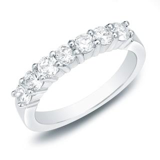 Auriya 14k Gold 3/4ct TDW Round Diamond Wedding Band (H-I, SI1-SI2)