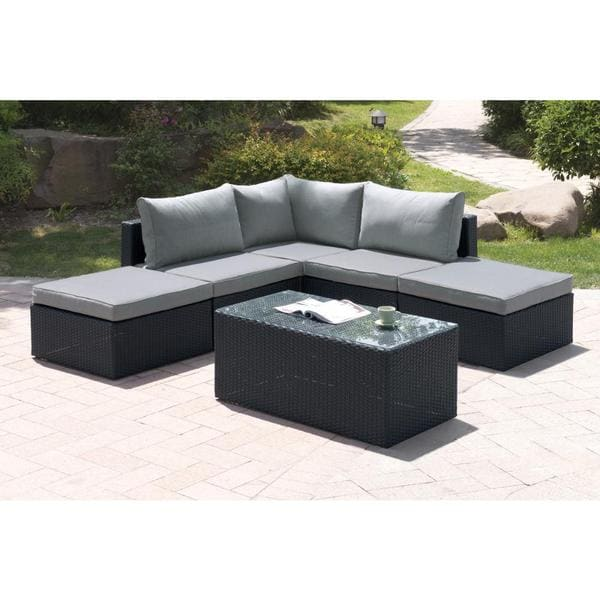 Bolinas Candid Dark Brown/ Tan 6-piece Patio Set