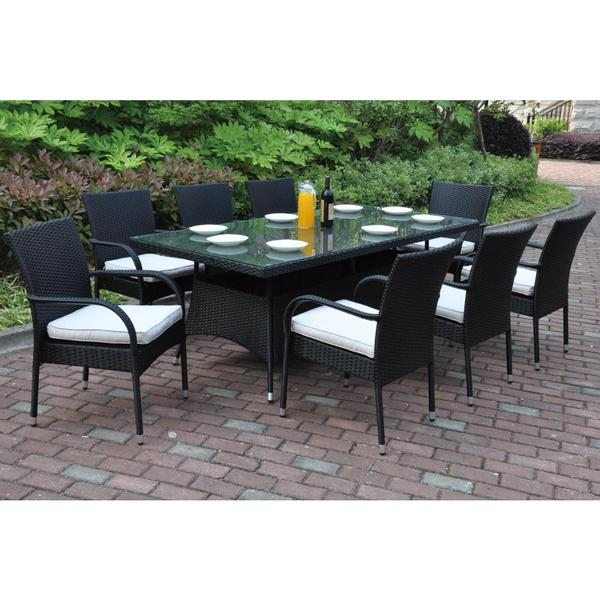 Bolinas Content Dark Brown/ Tan 9-piece Patio Set